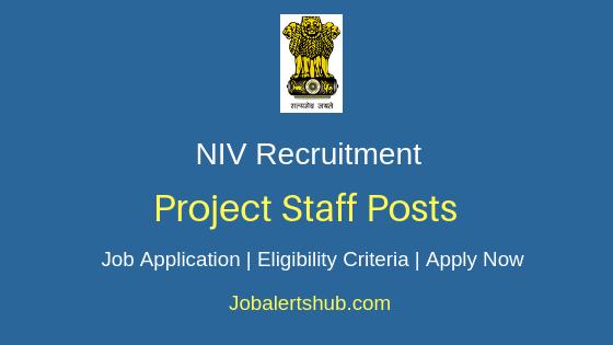 NIV Project Staff Job Notification