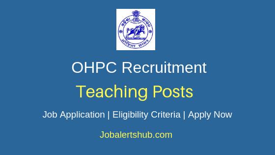 OHPC Teaching Job Notification