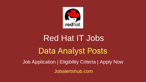 Red Hat Data Analyst Job Notification