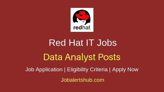 Red Hat Data Analyst Job Notification