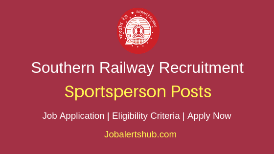 Southern Railways Sportsperson Job Notification