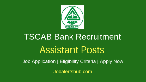 TSCAB Bank Assistant Jobs