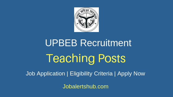 UPBEB Teaching Job Notification
