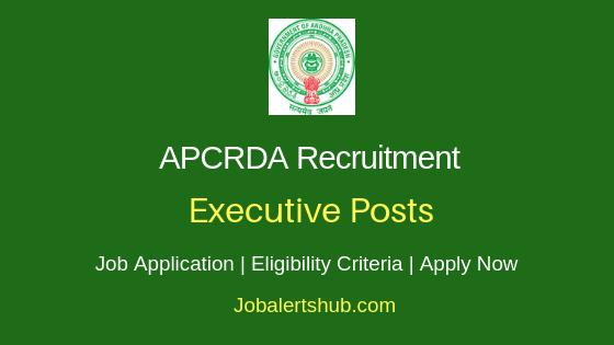 APCRDA Executive Job Notification