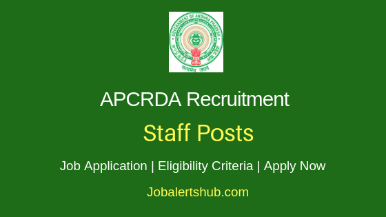 APCRDA Staff Job Notification