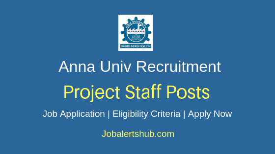 Anna University Project Staff Job Notification