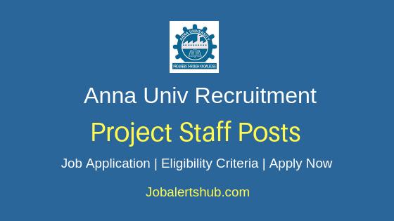 Anna University Project Staff Job Notification