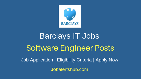 Barclays India Software Engineer Job Notification