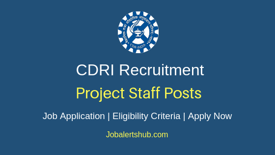 CDRI Project Staff Job Notification