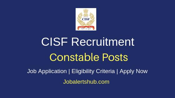 CISF Constable Job Notification