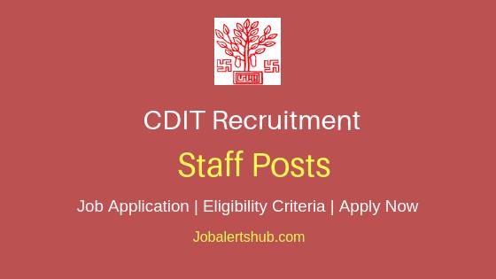 CDIT Staff Job Notification