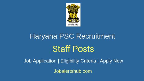 Haryana PSC  Staff Job Notification