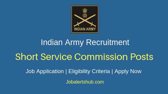 Indian Army Short Service Commission Job Notification