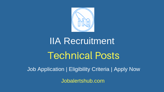 IIA Technical Job Notification