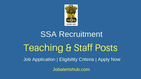 Jharkhand SSA Teaching & Staff Job Notification
