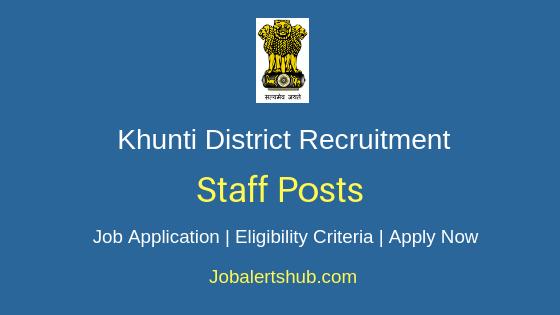 Khunti District Staff Job Notification
