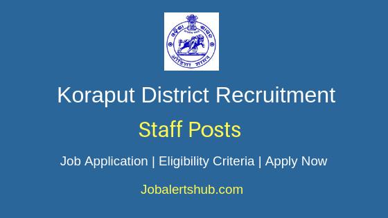 Koraput District Staff Job Notification