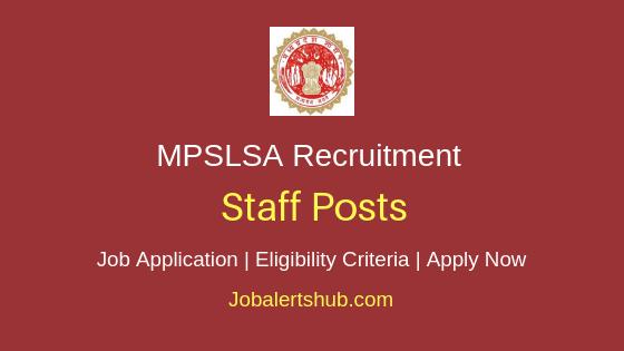 MPSLSA Staff Job Notification