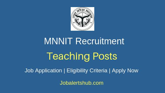 MNNIT Teaching Job Notification