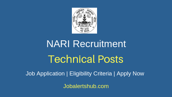NARI Technical Job  Notification