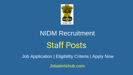 NIDM Staff Job Notification