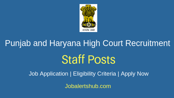 Punjab and Haryana High Court Clerk Job Notification