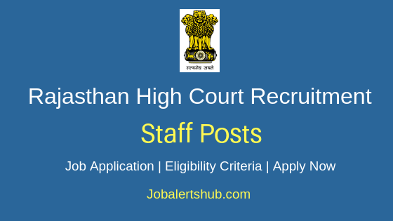 Rajasthan High Court Legal Researcher Job Notification