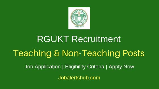 RGUKT Basar Teaching & Non-Teaching Job Notification