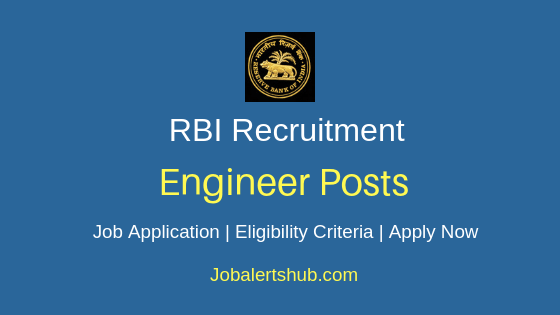 RBI Engineer Job Notification