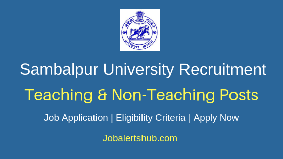Sambalpur University Teaching & Non-Teaching Job Notification