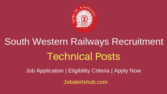 South Western Railways Technical Job Notification