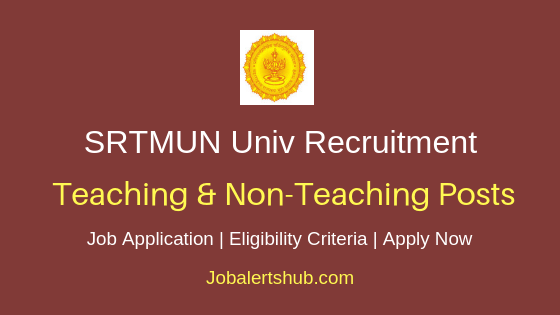 SRTMUN Teaching & Non-Teaching Job Notification