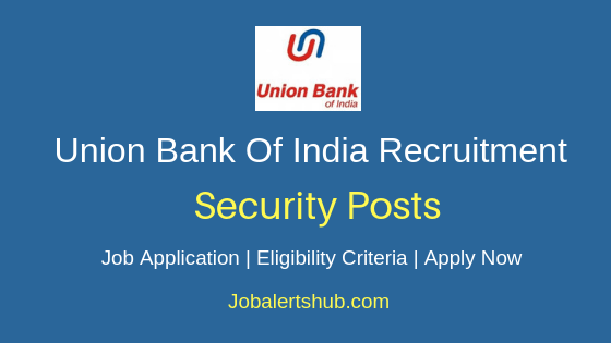 Union Bank Of India Security Job Notification
