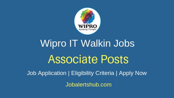 Wipro Limited Associate Walkin Job Notification
