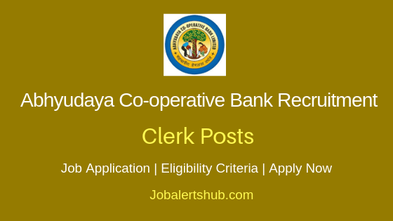 Abhyudaya Co-operative Bank Ltd Clerk Job Notification