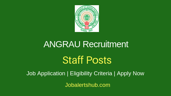 ANGRAU Staff Job Notification
