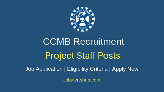 CCMB Project Staff Job Notification