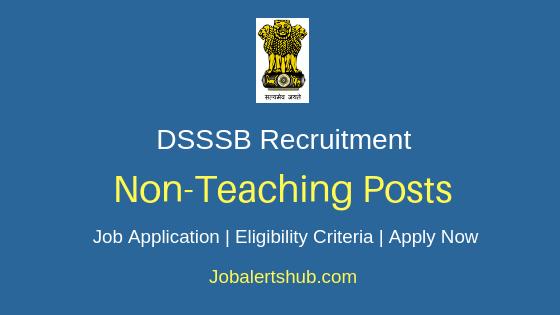 DSSSB Non-Teaching Job Notification