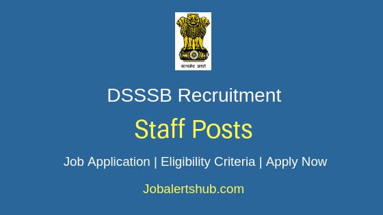 DSSSB Staff Job Notification