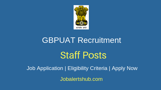 GBPUAT Staff Job Notification