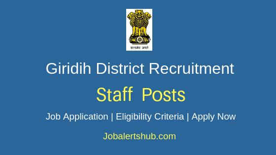 Giridih District Office Staff Job Notification