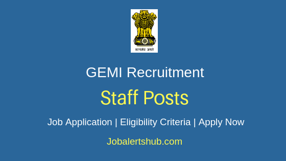 GEMI Staff Job Notification