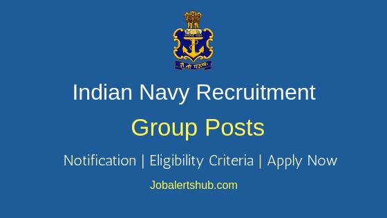Indian Navy Group Job Notification
