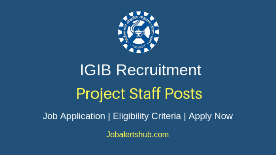 IGIB Project Staff Job Notification