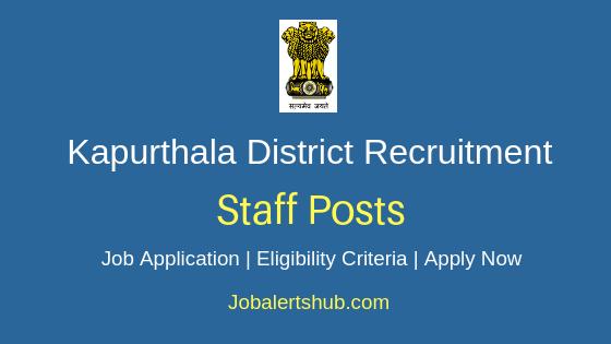 Kapurthala District Staff Job Notification