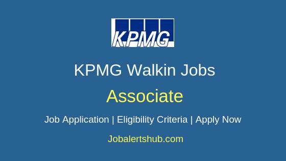 KPMG Associate Walkin Job Notification