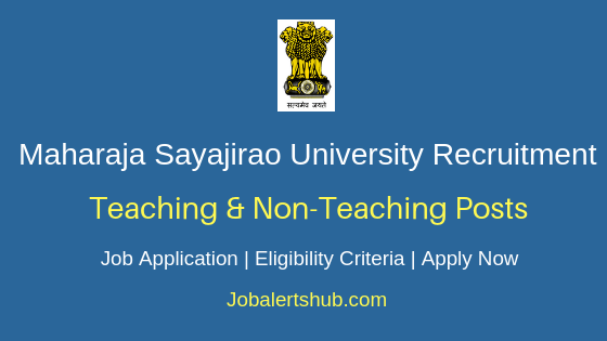 MSUB Teaching & Non-Teaching Job Notification