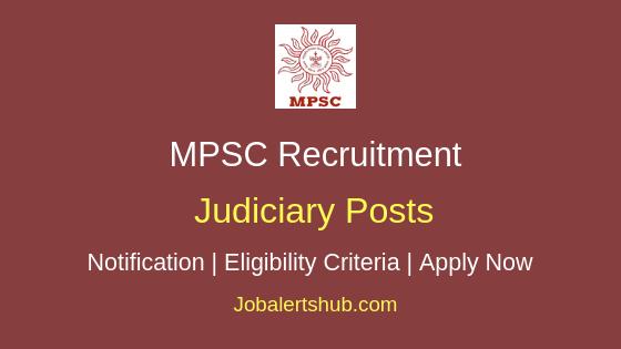 MPSC Judiciary Job Notification