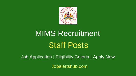 MIMS Staff Job Notification