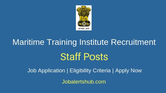Maritime Training Institute Staff Job Notification